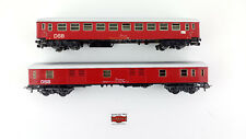 LOT 2 PASSENGER CARS DSB 1xMARKLIN + 1xIBERTREN H0 GOOD CONDITION WITHOUT BOX