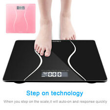 Smart Digital Electronic LCD Personal Glass Bathroom Body Weight Scale 397 LB
