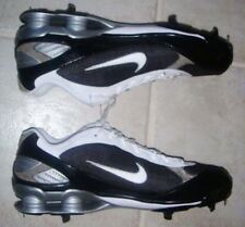 NIKE Shox Fuse Black White Metal Spikes Baseball Softball Cleats NEW Mens Sz 16