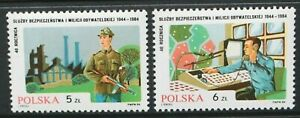 POLAND 1984 Security Forces & Civil Militia 40th Anniv. Set of 2 MNH SG2953/2954