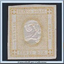 1862 Italia Regno Cifra in rilievo 2 cent. bistro n. 10 Nuovo Integro ** []