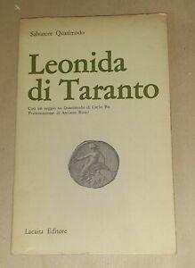 Leonida di Taranto di Salvatore Quasimodo - Lacaita Editore, 1969