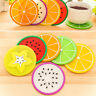 7pcs Silicone Coasters Fruit Cup Placemat Mat Round Heat-resistant Coffee Pad
