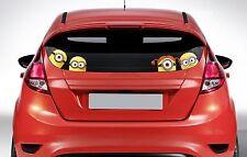 x4 Peeping Minions on board - Funny Car or Van Window / Bumper Decal Sticker