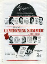 CENTENNIAL SUMMER 1946 Jeanne Crain, Cornel Wilde, Linda Darnell 3 TRADE ADVERTS