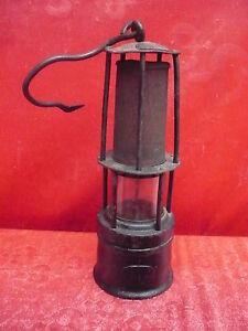 Antico Lampada Minatore___ Data Mining __ Molto Vecchio __Originale__