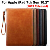 "For Apple iPad 7th Gen 10.2"" 2019 Luxury Leather Wallet Smart Stand Case Cover"