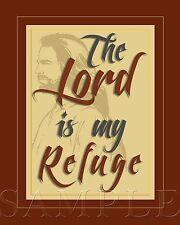 Bible Scripture Verse Picture 8X10 New Fine Art Color Print Jesus God Vintage