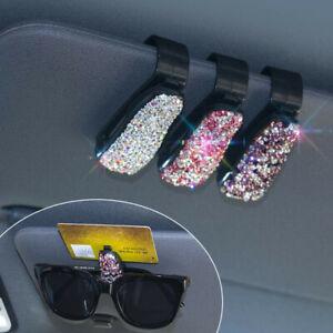 Car Auto Sun Visor Glasses Sunglasses Card Ticket Holder Clip Universal Bling