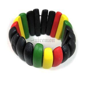 Reggae Rasta Rastafari Bracelet Bangle Hawaii Jamaica Africa Reggae Stretch Fit