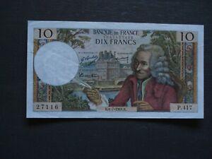 FRANCE 10 francs VOLTAIRE -F62/33 du 4/7/1968