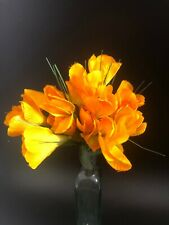 Home Decor Crocus Bunch Artificial Flowers Orange