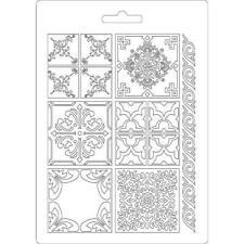 Soft Mould-STAMPERIA-flexible Gießform-A5-Azulejos-K3PTA523
