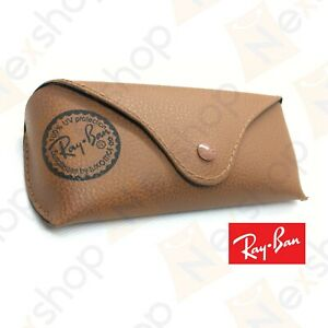 Rayban Sunglasses Eyeglasses Optical Soft Leather Brown Case with Cleaning Cloth