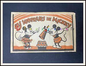 ⭐ LES SURPRISES DE MICKEY Mouse Disney French paper bag 1930's - DISNEYANA.IT ⭐