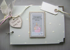 PERSONALISED.. NEW BABY GIFT GIRL...A5 SIZE PHOTO ALBUM/SCRAPBOOK/MEMORY BOOK.