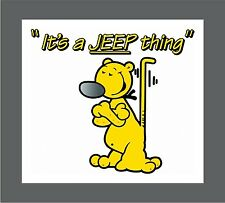Eugene the Jeep popeye jeep offroad decal sticker FREE SHIPPING!