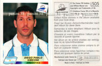 "RARE !! Sticker SIMEONE n°505 ""WORLD CUP FRANCE 98"" Panini 1998"