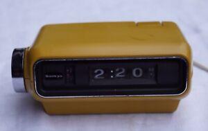 Sanyo Digital 4000 Klappzahlen Wecker Curry gelb 70er Jahre