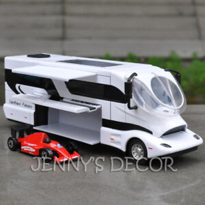 Diecast Model Toys 1:50 Elemment Palazzo Luxury RV Pull Back Camper Van Replica