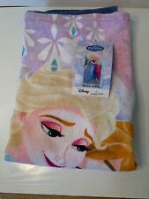 "NWT Disney Frozen Beach Towel Elsa Anna 28"" x 58"" Retail $29.99"