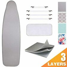 Ironing Board Cover and Pad Scorch Resistance Protective Mesh Cloth Silicone New