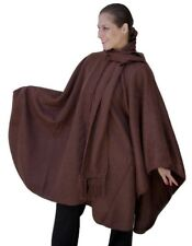 Alpaca Wool Cape Cloak with matching Scarf, Brown