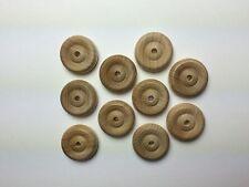 10 x 25mm in legno ruote per modellismo