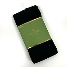 NWT Kate Spade Women Size M/L Footed Tights Black Stretch