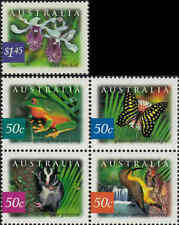 2003 AUSTRALIA Rainforests (5) MNH