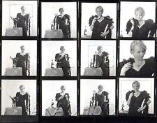 Blonde in Black Velvet & Boa Fur HENDRICKSON Negatives Photo Contact Sheet D773