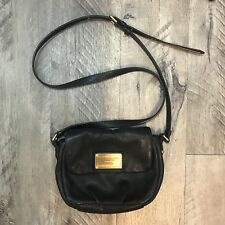 Womens Authentic Marc By Marc Jacobs Classic Black Natasha Leather Crossbody Bag