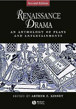 Renaissance Drama: An Anthology of Plays and Entertainments by John Wiley and S…