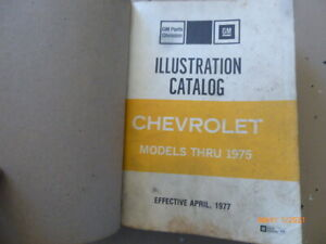 Chevrolet Illustration Manual Models 1965 Through 1975 - Great Help For Assembly