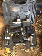 MAC ALLISTER DRILL DRIVER AND 4 BATTERIES