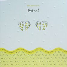 PACK OF 10 WONDERFUL COLOURFUL BIRTH OF TWINS ANNOUNCEMENT GREETING CARDS