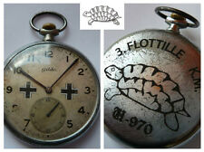 GERMAN WW2 NAVY U-Boat U-970 Kriegsmarine 3.Unterseebootsflottille POCKET WATCH