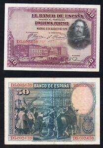 Spagna / Espana - 50 pesetas 1928 SPL/XF  A-06