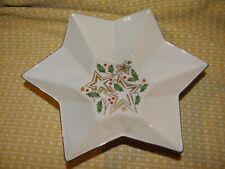 "Vintage Lenox Christmas Serving Dish~ Star Shaped~2 3/4 Tall X 11"" Across~Wow!"