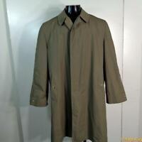 HARBOR MASTER Polycotton Long RAINCOAT Rain Trench Coat Mens M Size 40 Sage