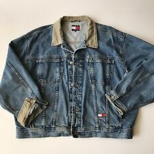 VTG 90's TOMMY Hilfiger TOMMY JEANS XXL Full Button Denim Jean Jacket