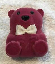 Birthstone Teddy Bear Balloons June Necklace Pendant w/maroon bear box