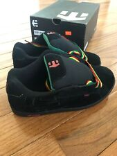 Etnies Kids Fader Black / Rasta Sneakers Lace Up Skate Shoes 5 - Brand New