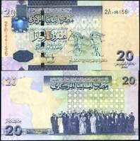 LIBYA 20 DINARS 2009 P 74 UNC