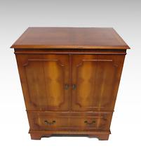 Yew wood veneer tv cabinet #2484