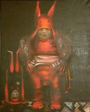 """""""LAST PERFORMANCE"""" Original Oil on Canvas Painting Russian Surrealism Signed"""