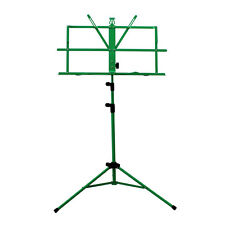 High Quality New Adjustable Folding Sheet Music Stand w Carrying Bag-Light Green