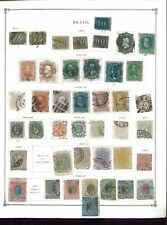 1844-1936 Brazil Mint & Used Postage Stamp Collection Album Pages Value $1,060