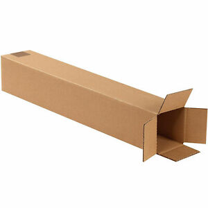 "24x4x4"" Shipping Boxes - Tall Corrugated Cardboard Boxes - Many quantities"
