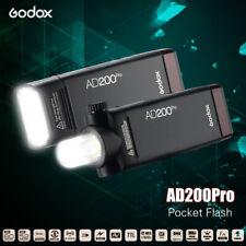 Godox AD200Pro HSS TTL Camera Flash Pocket Speedlite 2.4Wireless for Nikon Canon